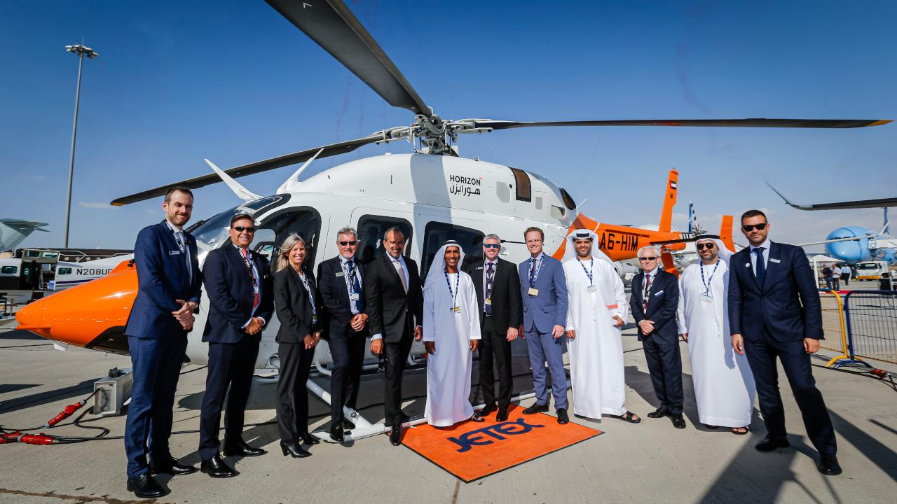 أكاديمية هورايزون الدولية للطيران توقّع اتفاقية لشراء 12 طائرة مروحية نوع Bell 505 Jet Ranger X