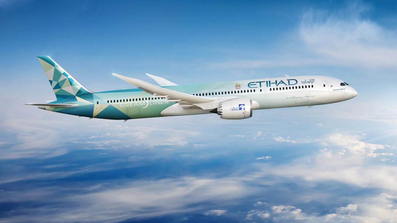 الاتحاد غرينلاينر – شراكة بيئية تجمع الاتحاد للطيران وبوينغ