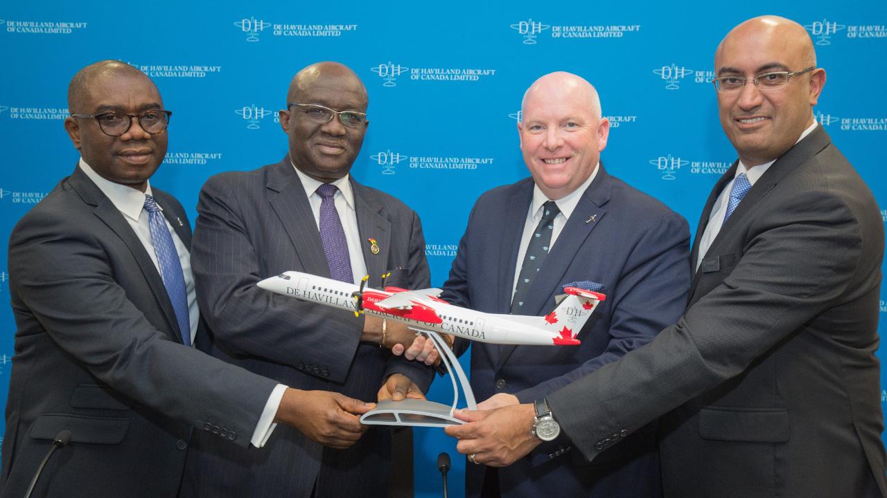 دي هافيلاند تحصل على عقود لبيع 11 طائرة داش 8 – 400 لحكومة غانا وشركة أورورا للطيران
