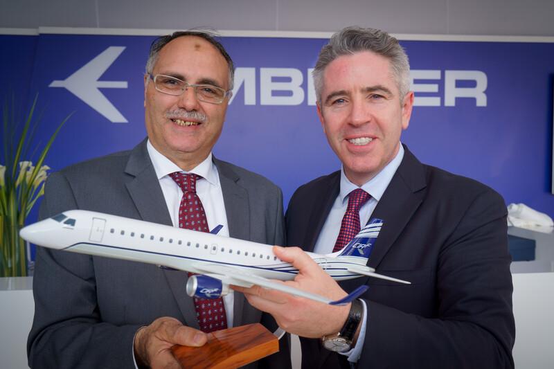 شركة CIAF للتأجير توقع طلبية لشراء ثلاث طائرات E190 من شركة إمبراير
