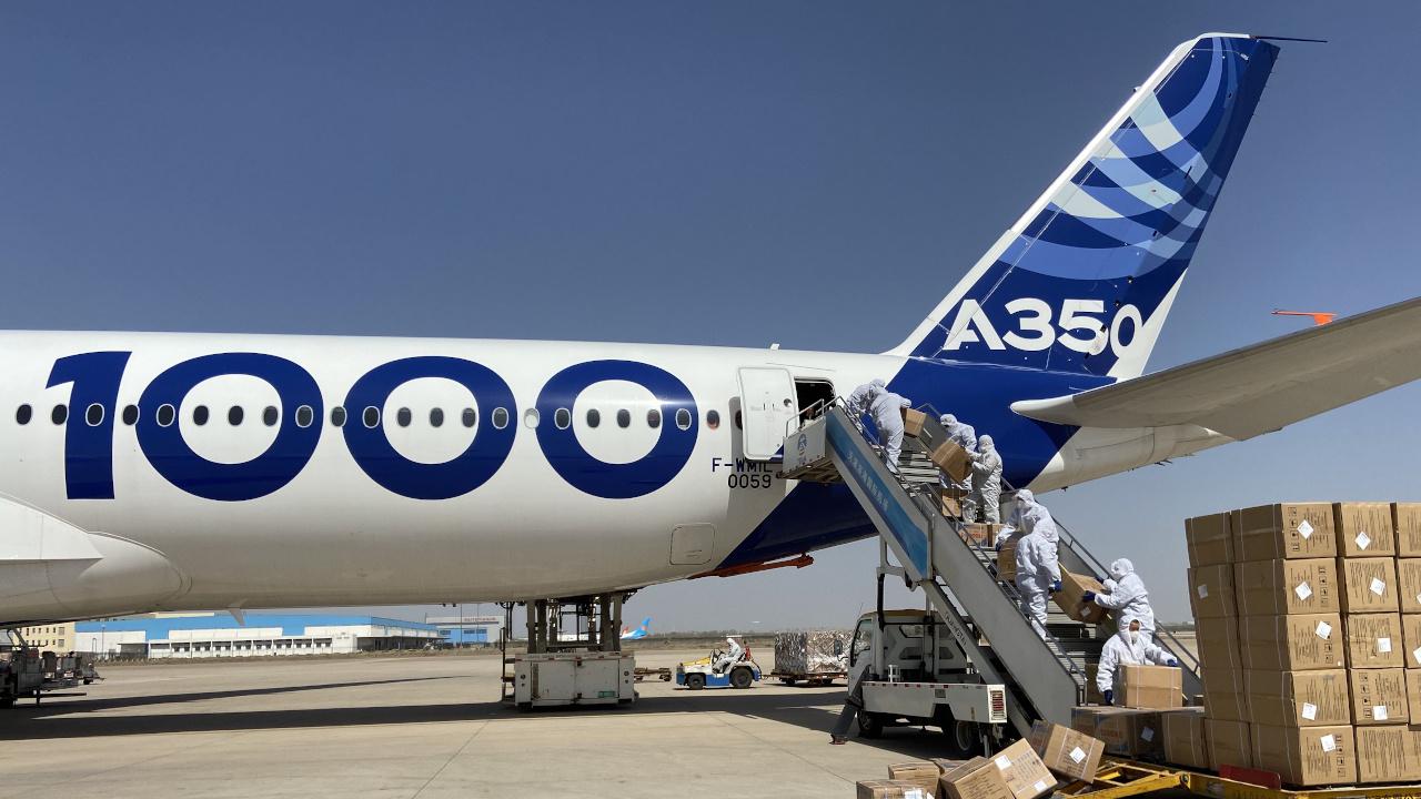 إيرباص تكافح فيروس كورونا بمهام جوية باستخدام طائرة A350